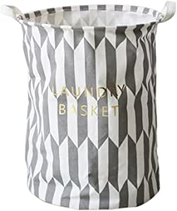 Opla3Ofx Stylish Foldable Storage Laundry Hamper Clothes Basket Home Cleaning Supplies Folding Household Toy Sundries Laundry Dirty Clothes Organizer Grey