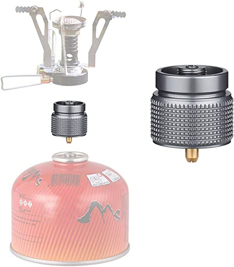 Hivexagon Adaptador de Estufa de Gas para Camping Entrada de Tanque pequeño Salida de válvula lindal EN417 - Adaptador de Tanque de Gas, Adaptador de ...