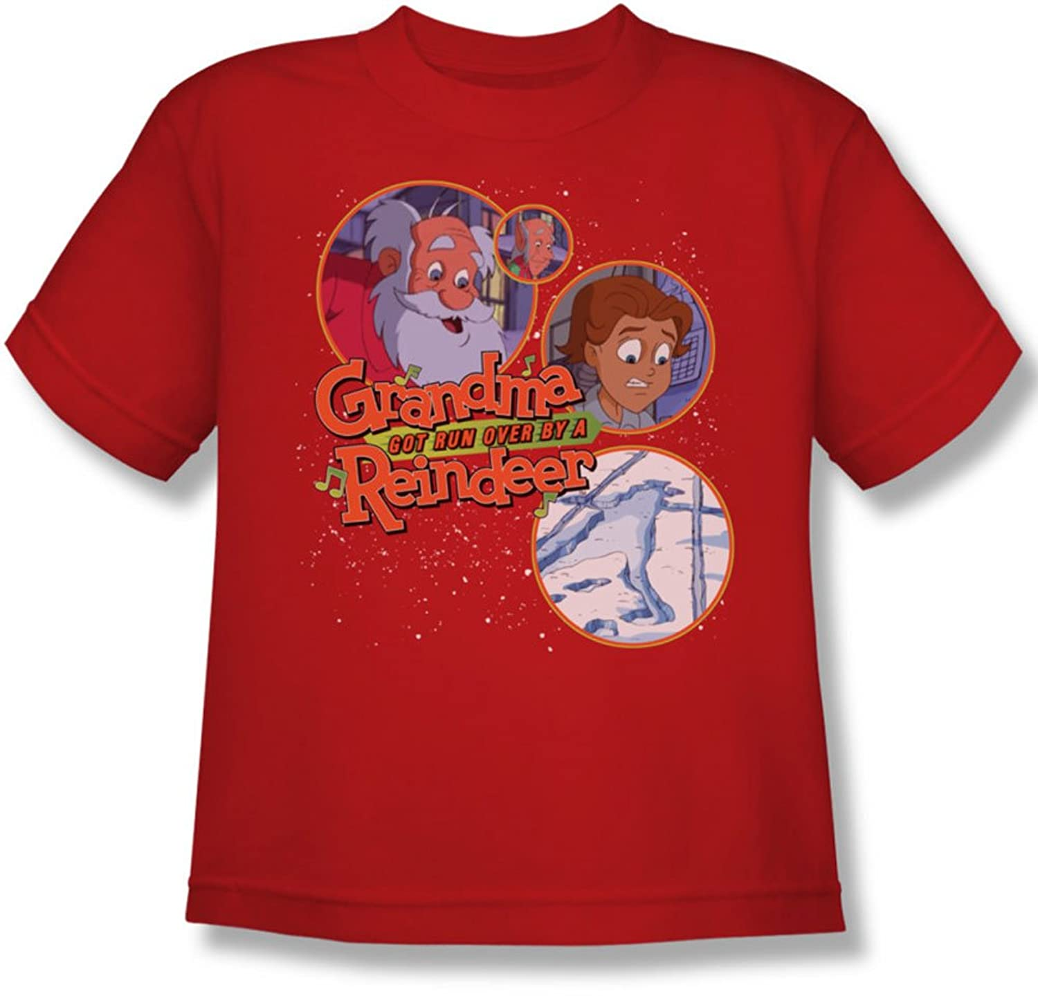 Grandma Got Run Over By A Reindeer - Youth Santa And Family T-Shirt
