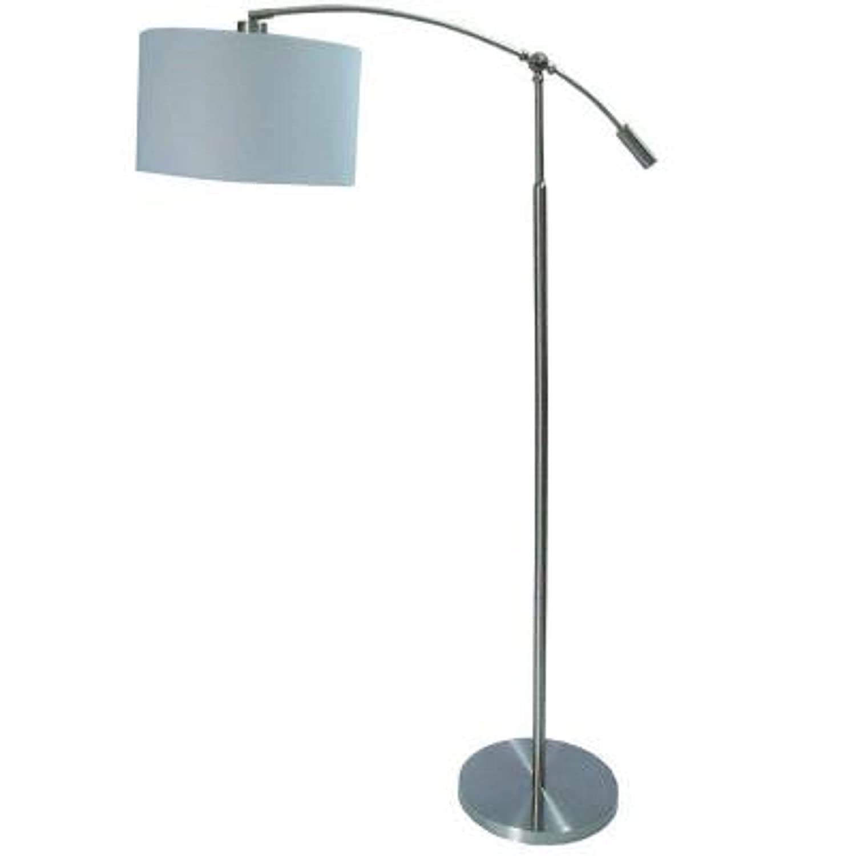 Hampton Bay 63.75 In. Brushed Steel Adjustable Height Arc Lamp ...