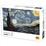 1000 Pieces Jigsaw Puzzles Adults The Smallest Size Starry Night Puzzles Difficult Famous Painting Thicker Paper Puzzle…