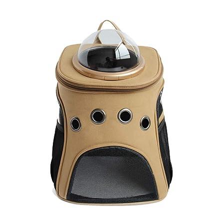 Weentop Mochila para Mascotas Portador de la Lona Portátil Viajero Bolso Transparente Gran Espacio Transpirable Cómodo
