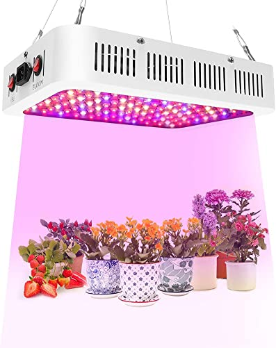 CANAGROW 300W COB LED Grow Light Bulb, Full Spectrum Grow Lights for Indoor Plants, E26 Sunlike Plant Grow Bulb, Aluminum Case Reflector, Ultra Quiet Cooling Fan, Designed for Special Plants