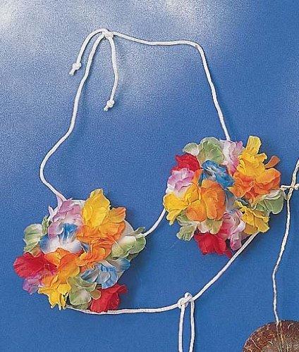 [Forum Novelties Hawaiian Hula Dancer Silk Flower Bra] (Hawiian Costumes)