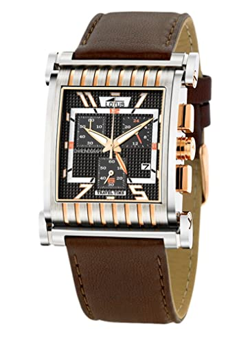 Lotus Andorra 9942-3 - Reloj cronógrafo de caballero de cuarzo con correa de piel negra: Amazon.es: Relojes