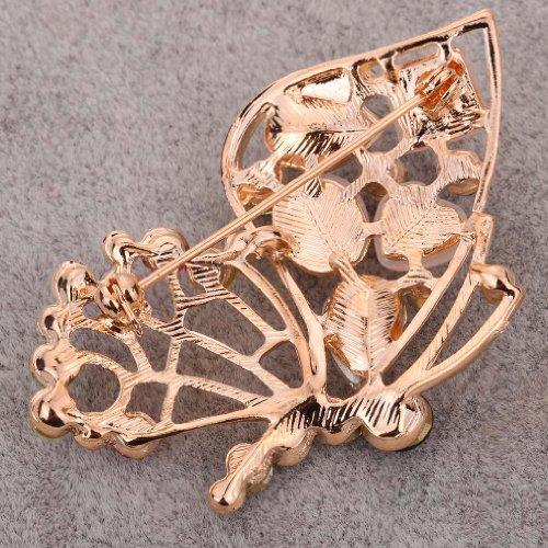 Yazilind bijoux forme de papillon en cristal colore de marqueterie plaque or broches et epingles pour les