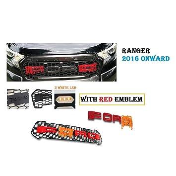 Rejilla Frontal Parrilla roja para Ranger Pickup 2016-2017 ...