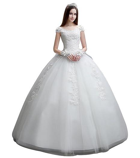 White Off the Shoulder Wedding Dresses