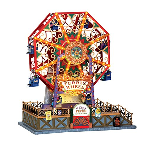 Worlds Fair Ferris Wheel - Lemax Caddington Village Victorian Flyer Ferris Wheel Christmas Accessory #34618