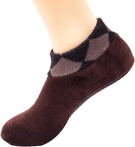 Women Stylish Warm Thicke Home Bed Sock Non Slip Elastic Floor Socks Slipper
