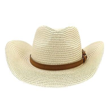 aiNMkm Sombreros para Mujer, Gorra para Hombre, Mujer, Paja ...