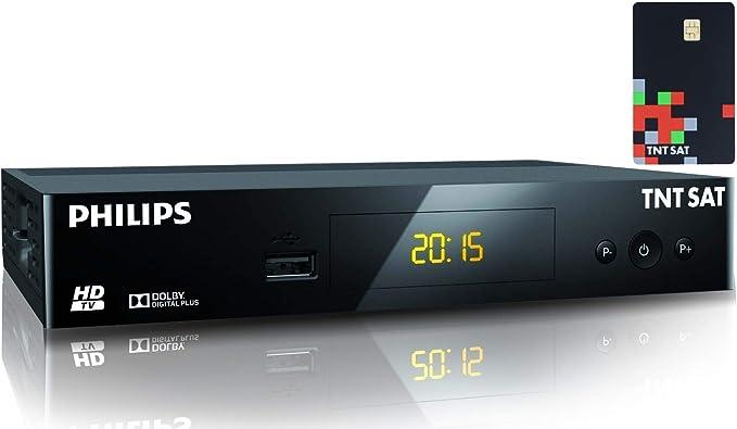 TNTSAT - Decodificador TDT satélite (Receptor + Tarjeta TNTSAT HD Astra (19,2 °), USB, HDMI, MPEG4, Full HD, 1080P: Amazon.es: Electrónica