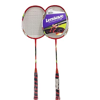 Lenwave Badminton Set Two CarbonShaft Badminton Racquet Badminton Racket Set Including Badminton Bag Set of 2