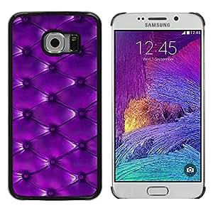 Samsung Galaxy S6 EDGE (NOT S6) , JackGot - Impreso colorido protector duro espalda Funda piel de Shell (Botón del modelo de cuero púrpura)
