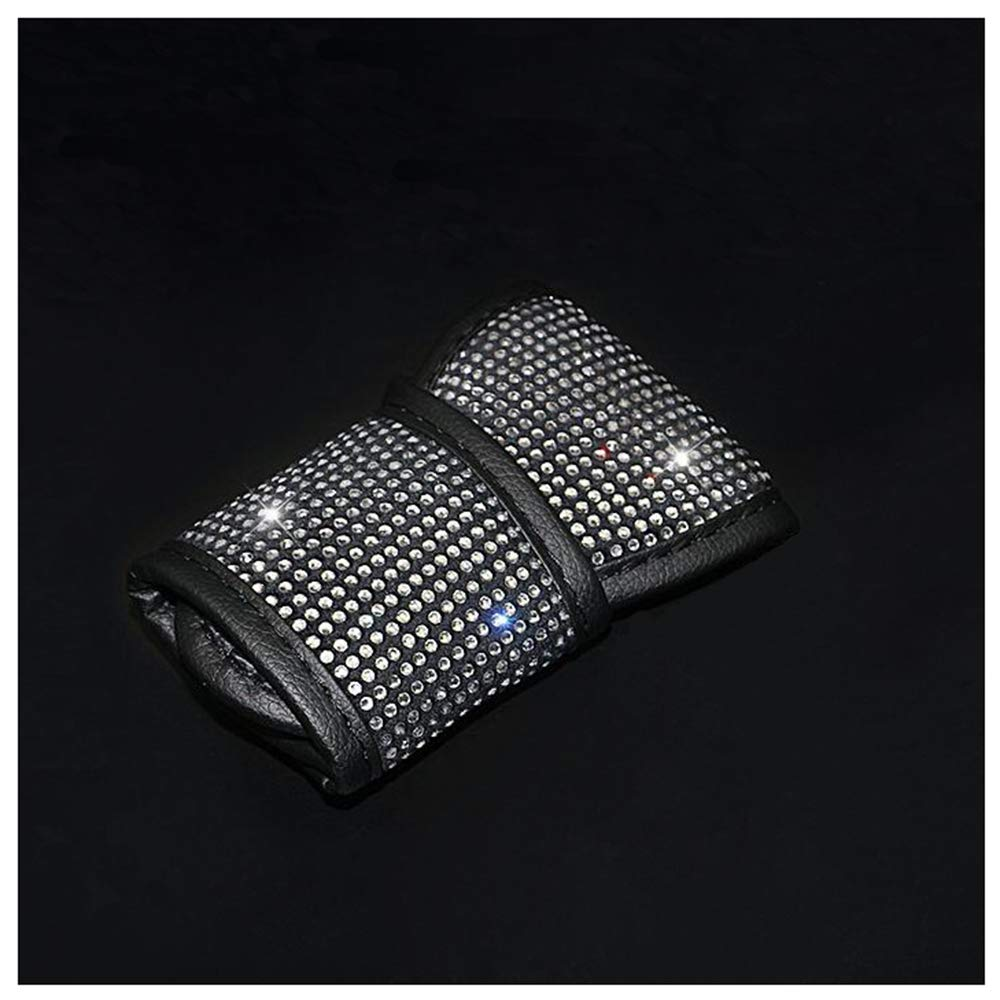 Black Siyibb Bling Rhinestones Car Handbrake Cover