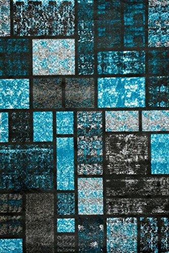 turquoise area rug modern carpet large new