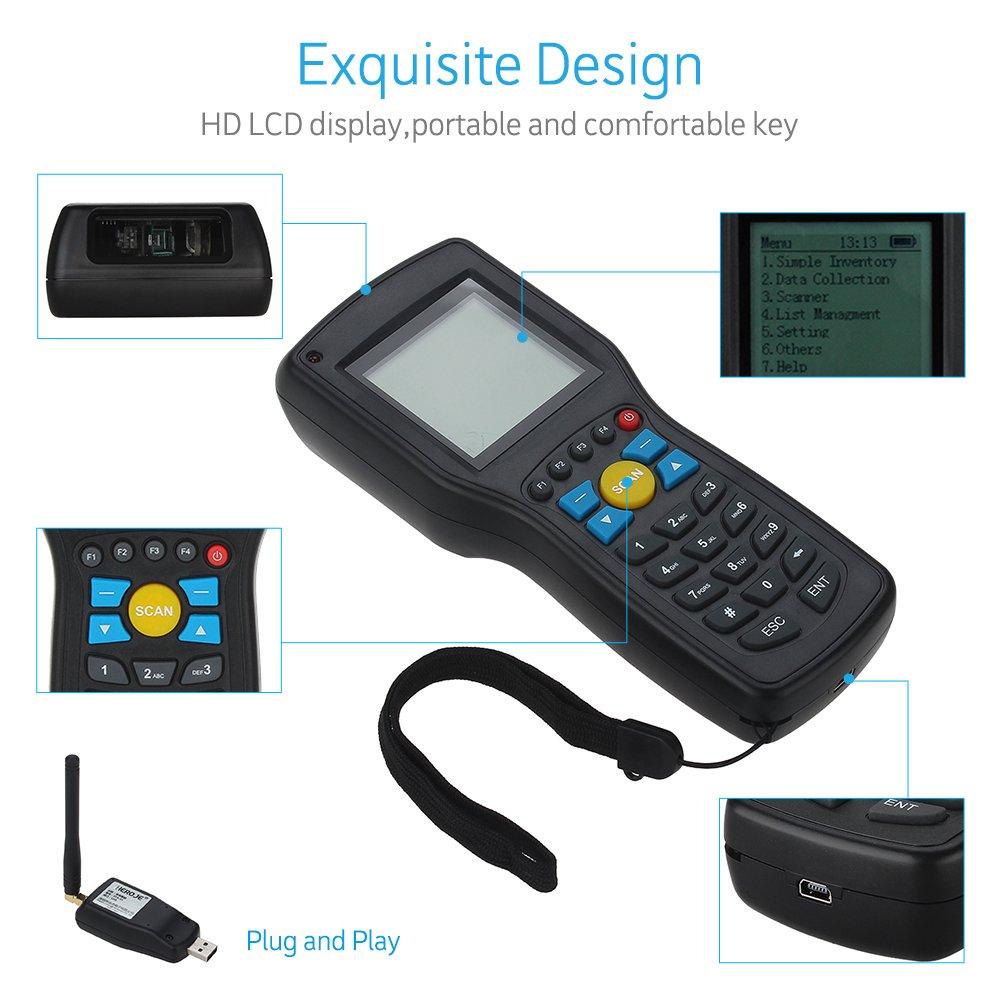 Barcode Scanners Elikliv Portable T5 Elite Ver 1D EAN13 UP Wire