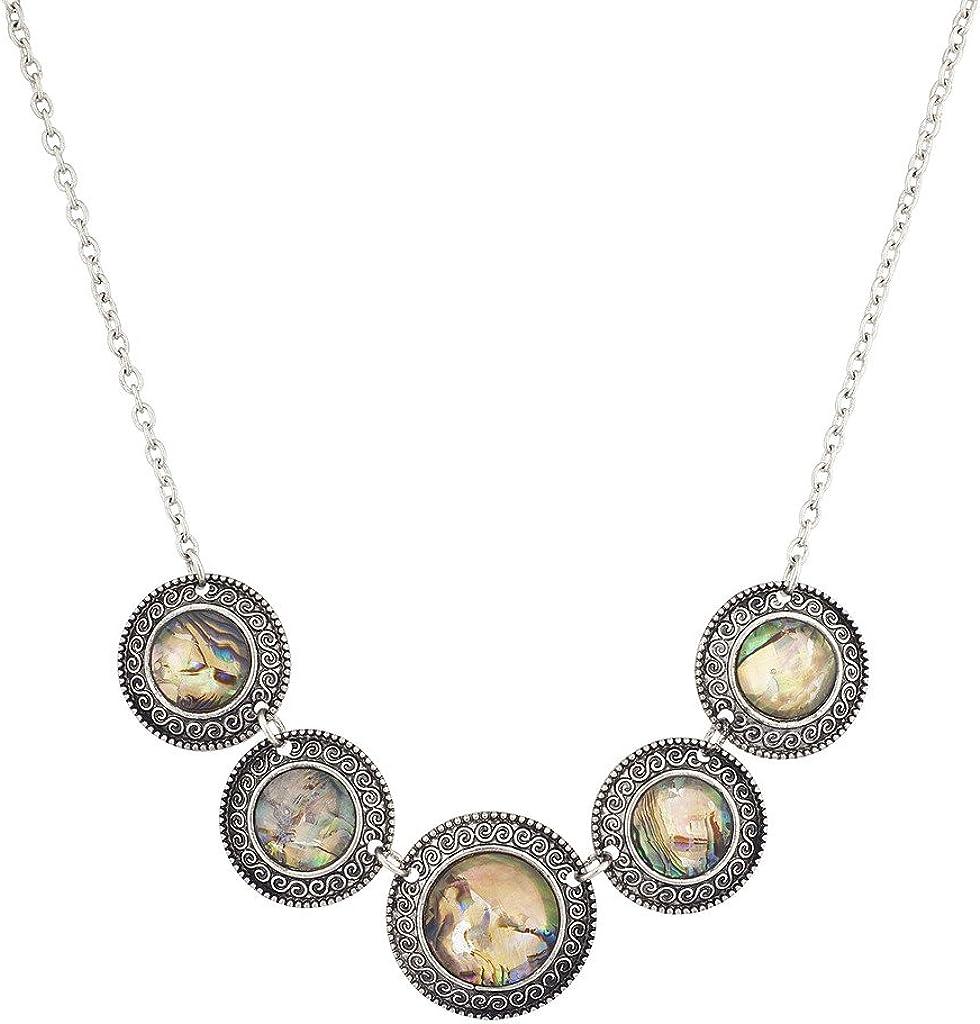 Hammered gold bar pave stone bib boho necklace