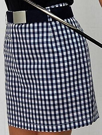 Falda de Golf Cuadros Vichy (Vichy Azul Marino, 38): Amazon.es ...
