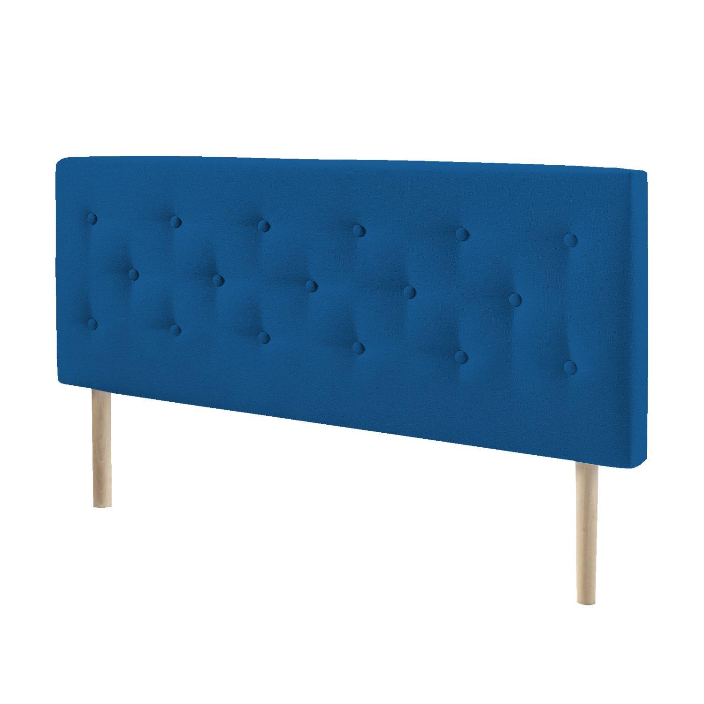 suenoszzz-especialistas del Riposo suenoszzz testiera imbottita in Mod Helsinki letto 105+ include gambe nordiche, mod Legno FAGGIO Medida: 115 cm x 100 cm x 6 cm. Tessuto ciniglia parete blu navy