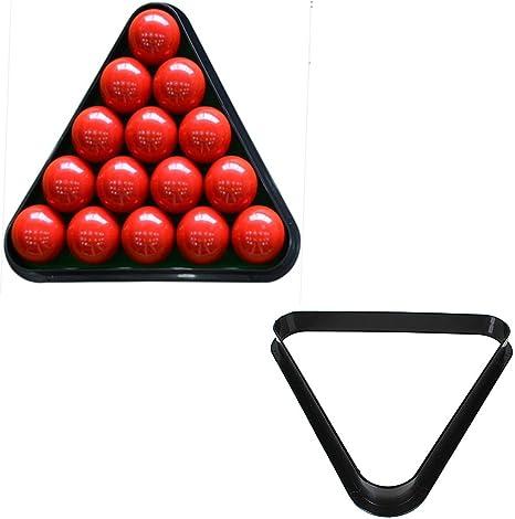 Camtoa plástico Triángulo de billar mesa de billar rack estándar ...