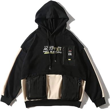 Niepce Inc Long Sleeve T-Shirt Men Black Cotton Lightweight Crewneck Sweatshirt