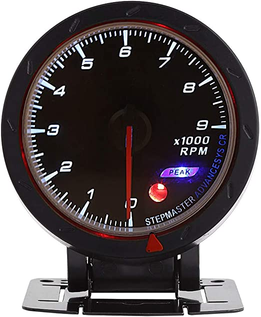 Keenso Tachometer Gauge Universal 12V 9000 RPM Shift with LED Backlight For Auto Racing Car