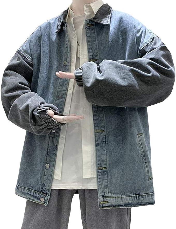 YiTongメンズ デニムコート 春秋 gジャン カジュアル デニムジャケット ブルゾン ジャケット アウター メンズ ゆったり ジャンパー