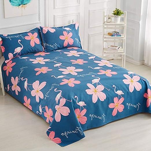 XJRHB Sábanas de Tela Gruesa de algodón Grueso sábanas Dobles de algodón 1.5/1.8 / 2m (Color : H, Size : 120X230cm): Amazon.es: Hogar
