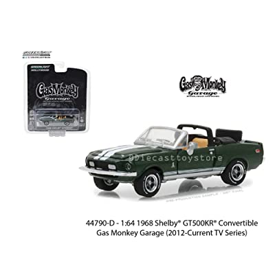New Diecast Toys Car Greenlight 1:64 Hollywood Series 19 - Gas Monkey Garage - 1968 Shelby Gt500Kr Convertible 44790-D: Toys & Games