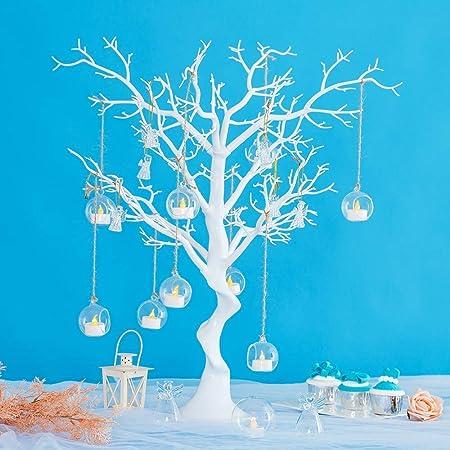 Arbre de d/écoration de table au mariage//f/ête arbre voeux d/émontable d/écoration de table d/'enregistrement au mariage ornement d/'arbre de simultation blanc