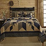 VHC Brands Dakota Star King Cotton Quilt in Black and Tan