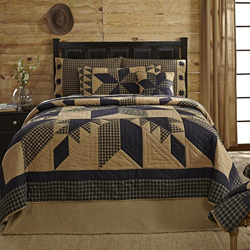 Quilt in Black and Tan (King: 105 in. L x 95 in. W (7.5 lbs.))
