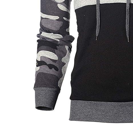 Gran promoción! Camuflaje para Hombre Talla Grande Pullover Sudadera con Capucha de Manga Larga Tops Blusa de Internet.: Amazon.es: Ropa y accesorios