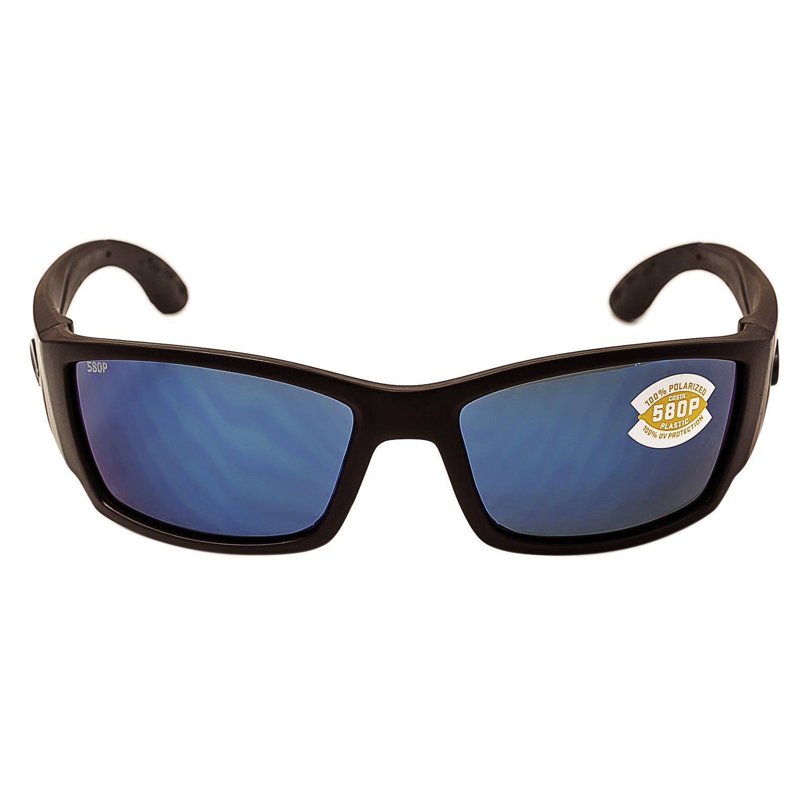 Costa Del Mar Corbina Sunglasses, Blackout, Blue Mirror 580Plastic Lens by Costa Del Mar