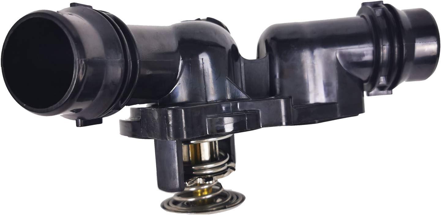 Engine Coolant Thermostat Housing Assembly w Sensor Gasket Compatible with 2006-1998 BMW E46,E39,E83,E53,E60 320i 323i 325ci 325i 330i Z3 Z4 Replace for 11530139877 11537509227 11531437040 11531436823