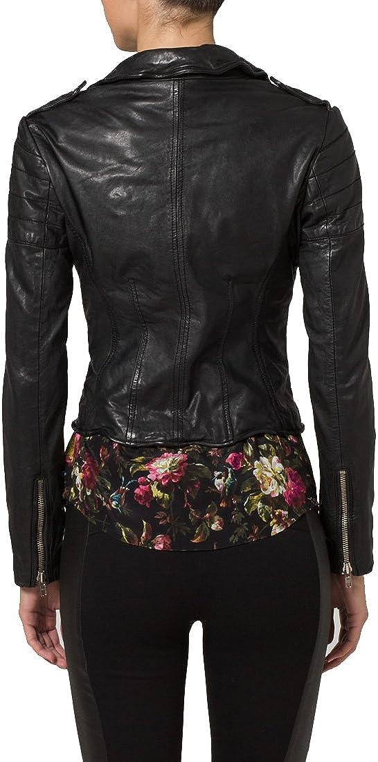 Genuine Soft Lambskin Leather Jacket for Womens Designer Wear LFWN134