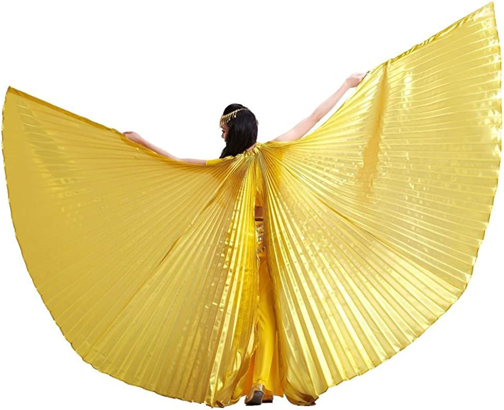 Pilot-Trade Women's Egyptian Egypt Belly Dance Costume Bifurcate Isis Wings, Gold, One Size: Clothing