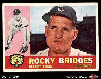 Amazon.com: 1960 Topps # 22 Rocky Bridges Detroit Tigers (Baseball ...