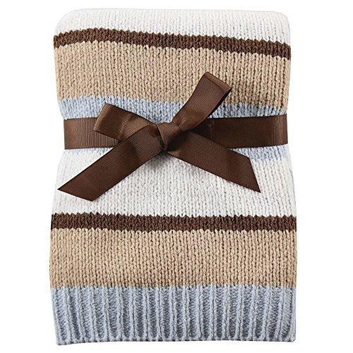 Hudson Baby Striped Chenille Blanket