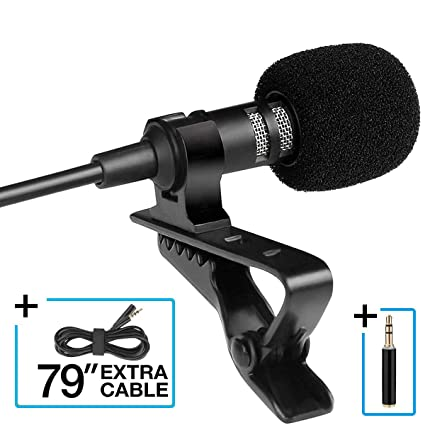 Amazon com: Lavalier Lapel Microphone, Omnidirectional 3 5mm