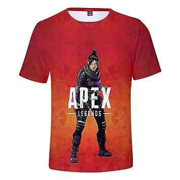 Apex Legends T Shirt Freizeit Trend Kurzarm 3d Print Top Tees Apex