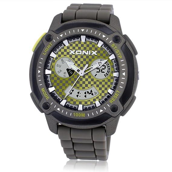Vintage doble deporte escalada digital relojes/Reloj de múltiples funciones del estudiante-I: Amazon.es: Relojes