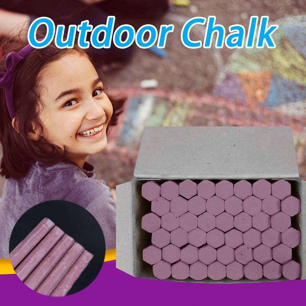 Brown Sidewalk Chalk Nontoxic Chalk 48-Count Assorted Colors Washable Kids Outdoors Drawing Art
