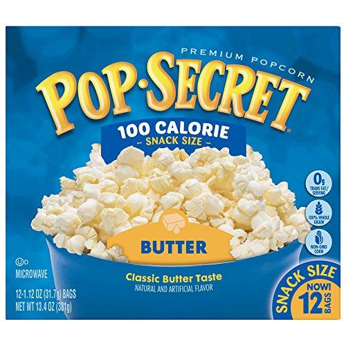 Pop Secret Popcorn, Butter 100 Calorie Microwave Bags, 12 Count - Microwave Popcorn Mini