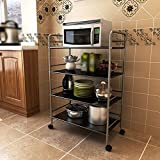 3-storey kitchen rack: practical process, thick material, practical concept, mobile type ( Size : 5032100CM )