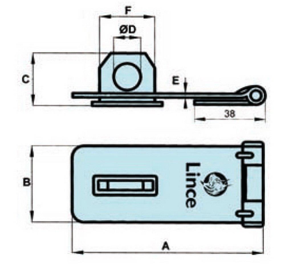 Lince 10095BL Candado 95 mm