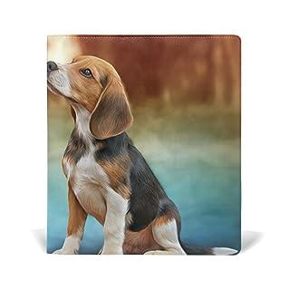 ALAZA Cute Cane colorata riutilizzabile pelle Book Cover 9 x 11 pollici per le medie e Jumbo Dimensioni Rilegato testi scolastici Libri di testo