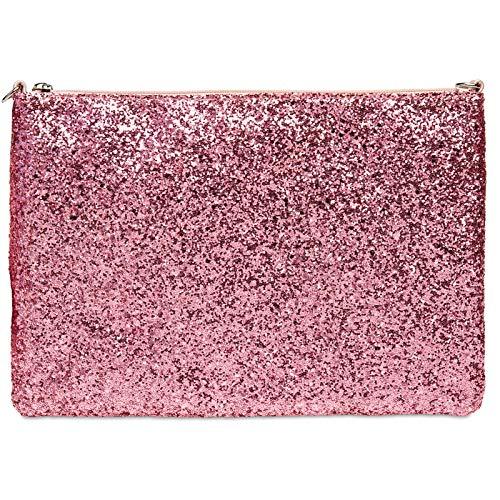 Rose Format Paillettes Grand Pour Ta341 À Caspar Clutch Bonbon Femme BpqP8