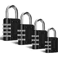 Candado combinación,candados de Seguridad por combinación, [4 Piezas] con Apertura mecánica por combinación numérica…